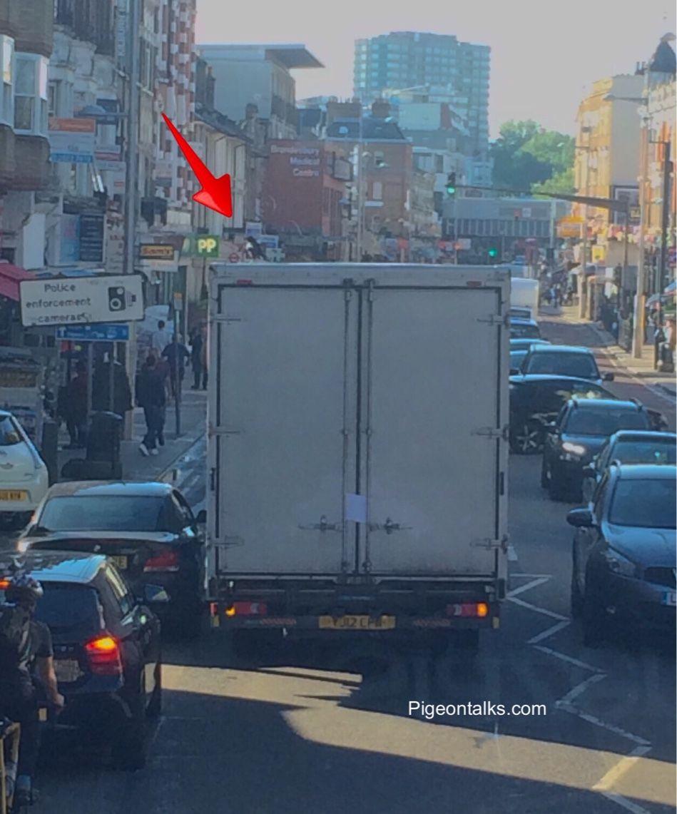 Broken down lorry with guard crow currently blocking Kilburn High Rd, be warned the bird bites | #london #kilburn #northwestlondon #lorry #crow #broken #rushhour #ohdear #Funny #Random #pigeontalks