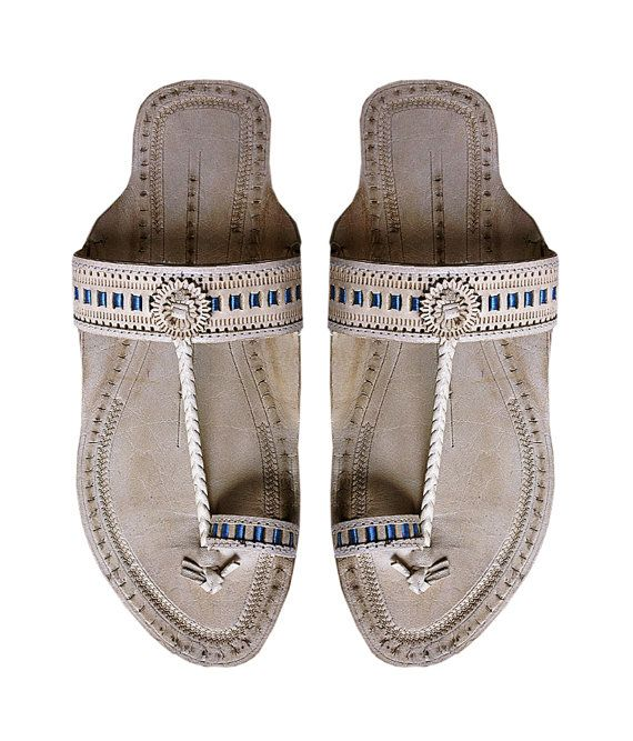 d3ef84021ab1b Brown Indian Slippers Handmade Ethnic Designer Women Sandals - Maharaja  Style Everyday Wear Slide Sh in 2019