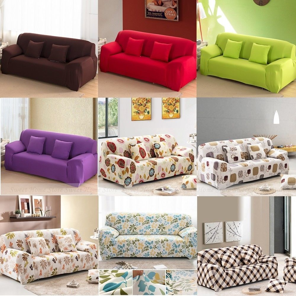 1 2 3 Seater L Shape Loveseat Chair Stretch Sofa Couch Protect
