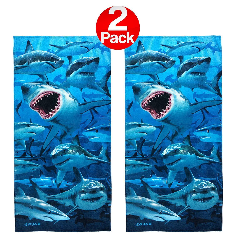 3e8d948e1d Kaufman - Hungry Sharks Beach Towel (106042) - 2 Pack Set | SHARK ...