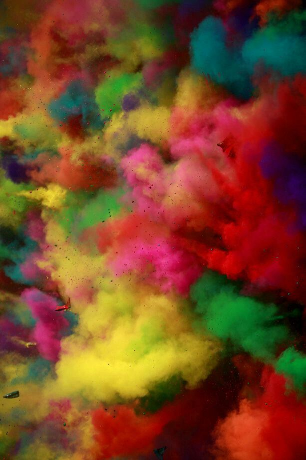 Different coloured powders being thrown during the holi - Animesh wallpaper ...