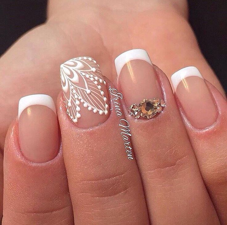 Nail Art #2136 - Best Nail Art Designs Gallery | Lace nails and Gold ...