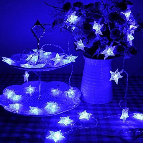 Solar Christmas Led String Lights Star, JIANFENG 25Ft 60   - solar christmas decorations