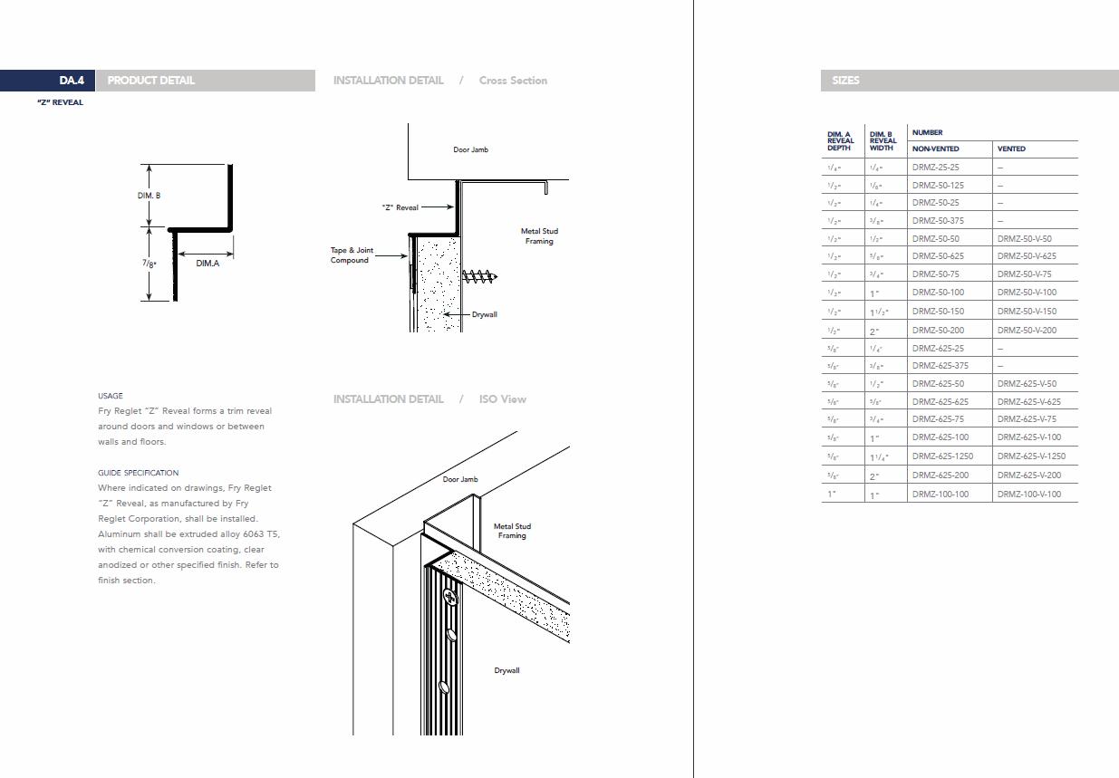 Drywall Edge Profiles : Fry reglet z edge details pinterest