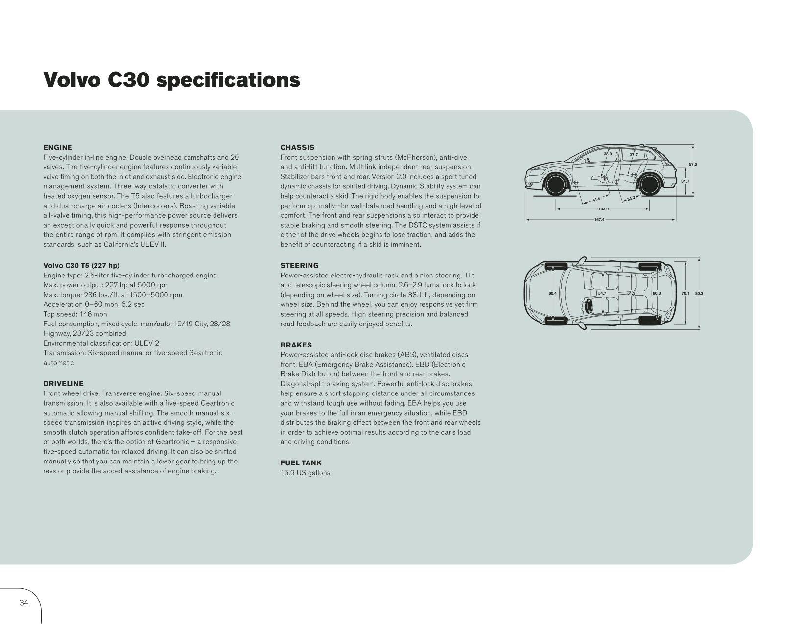 2009 Volvo C30 Brochure Page 36