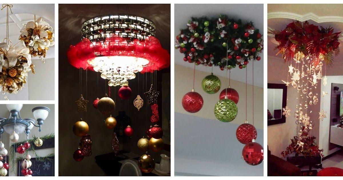 16580539cb2 Colgante con esferas navideñas para decorar el techo en navidad ...