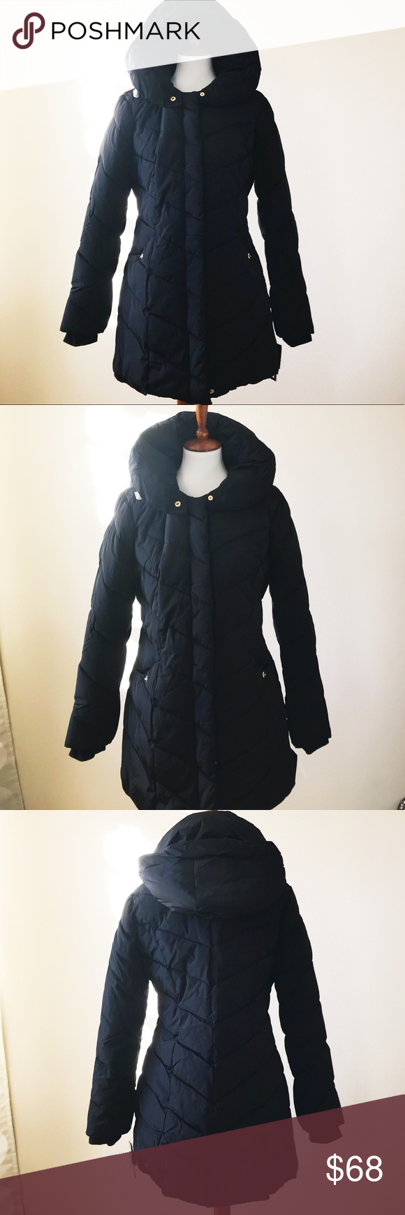 Steve madden puffer jacket new with tag hood is detachable p