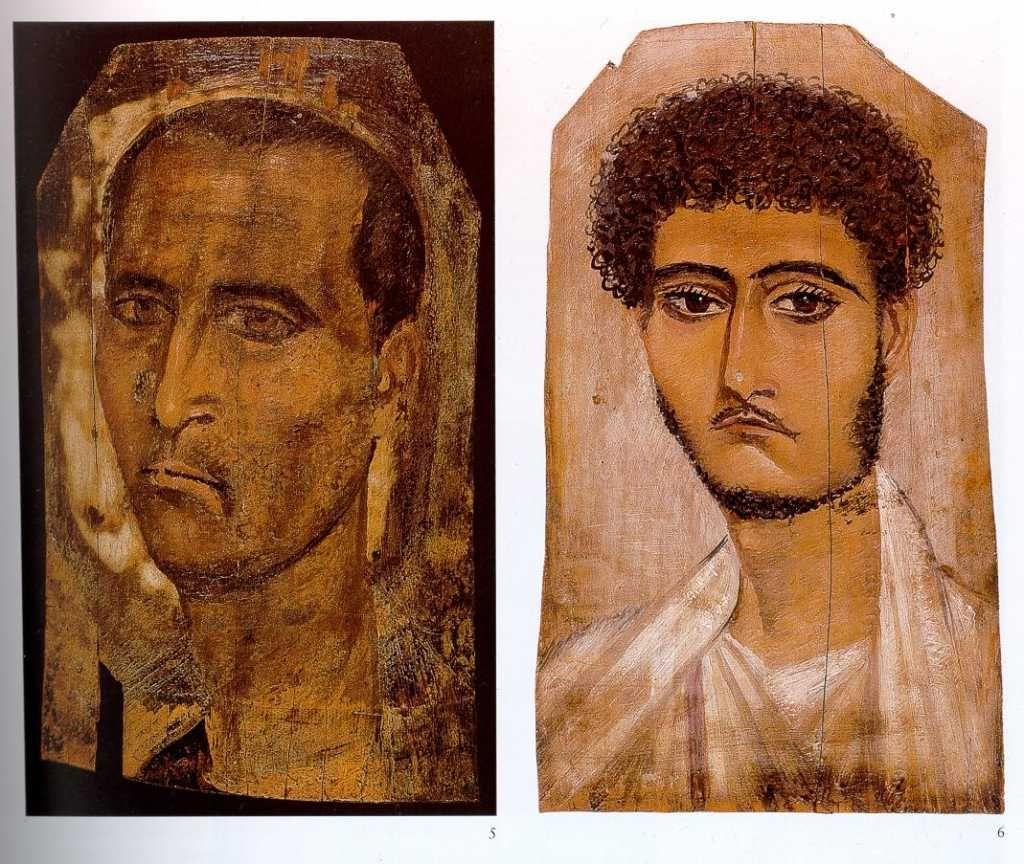 Coptic Portrait: Fayum, 3rd century CE