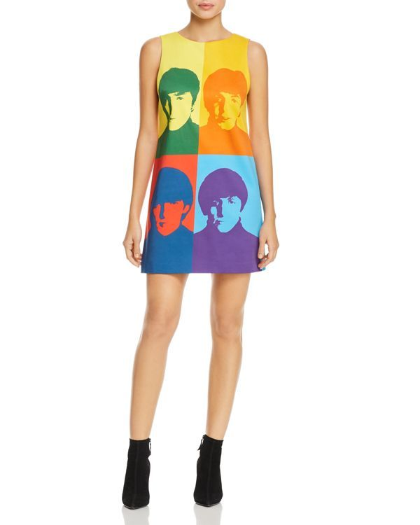 efb41313858 Alice and Olivia x The Beatles Clyde A-Line Shift Dress