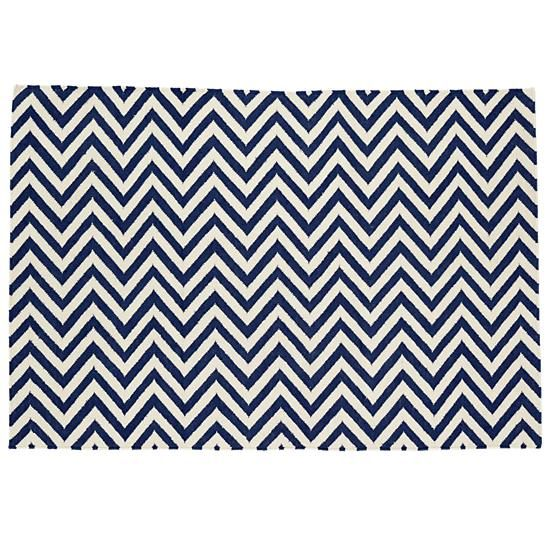 Love Idea Of Bringing In A Bold Pattern On The Floor This Chevron Rug Is