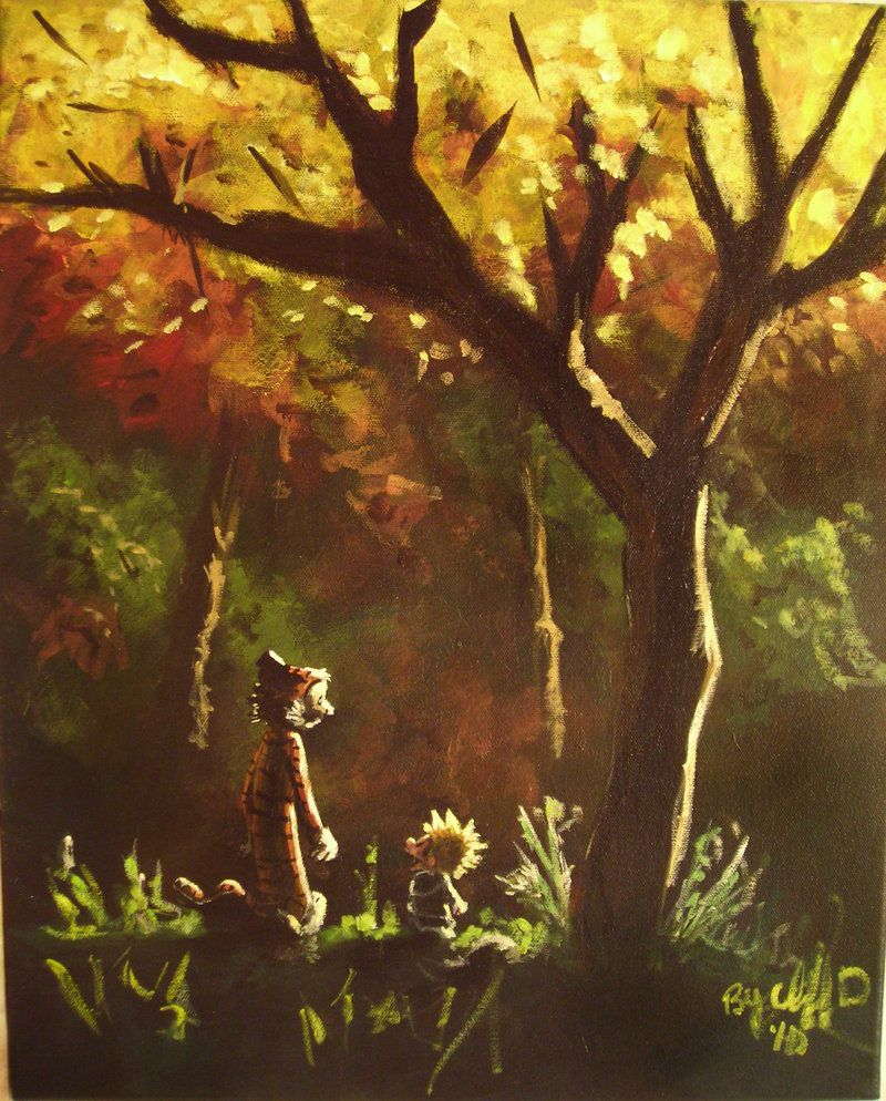 Calvin And Hobbes Inspired Painting By Cliford417 On Deviantart
