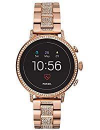 7d209c846dd1 Fossil Reloj Mujer de Digital con Correa en Acero Inoxidable FTW6011 ...