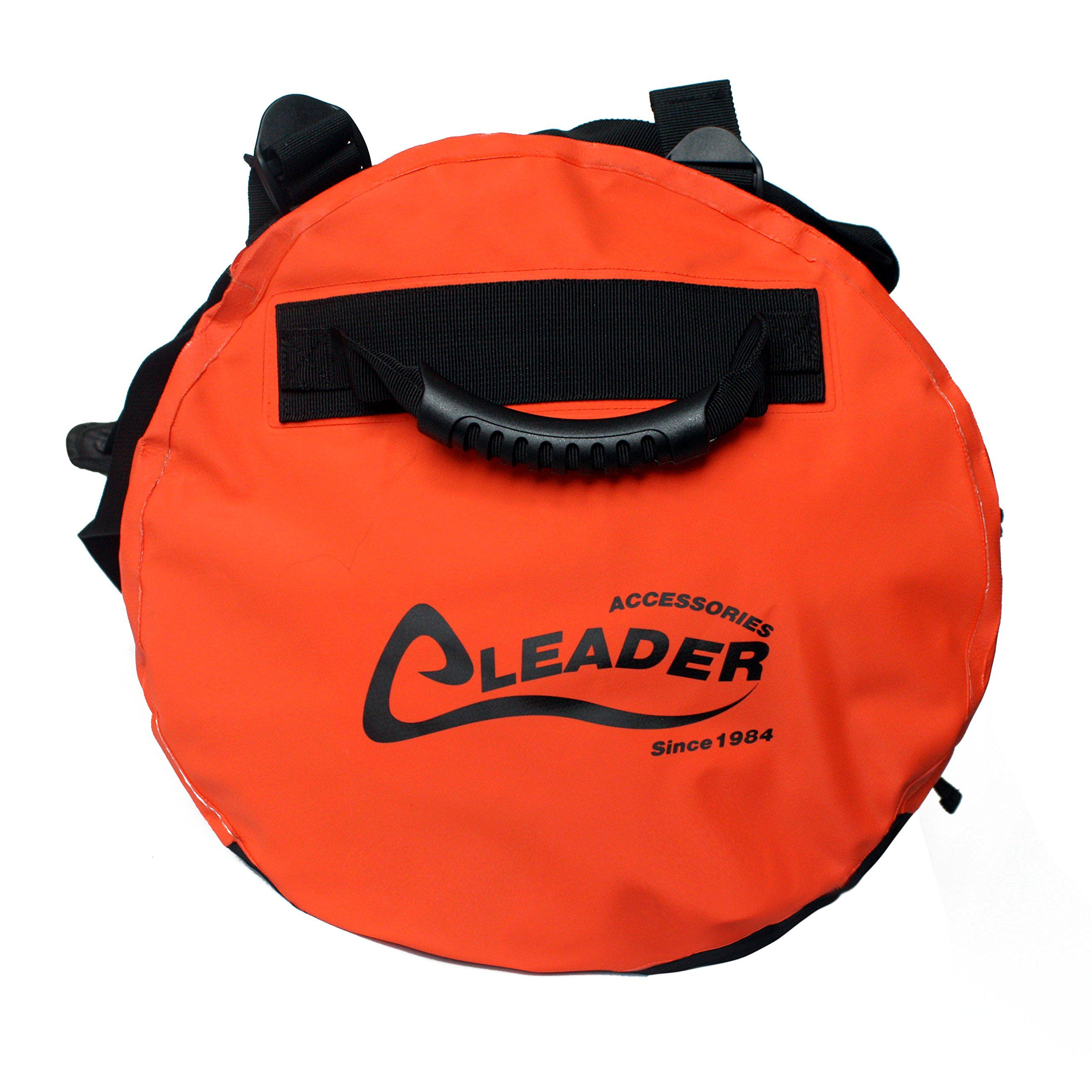 Canoe Gear    Leader Accessories Deluxe Water Resistant PVC Tarpaulin  Duffel Bag Backpack Orange 40L -- See this great product. (This is an  affiliate link). 889c537e6f267