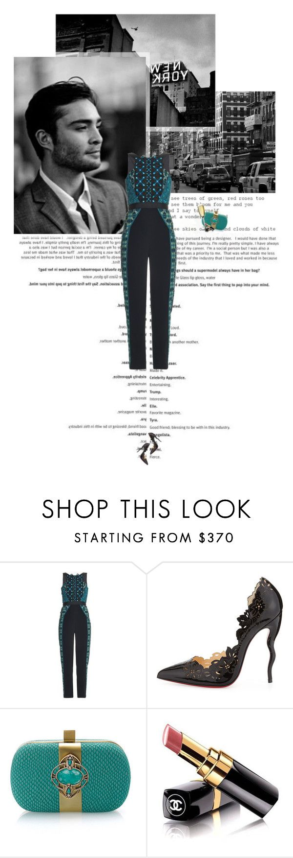 """""""Untitled 3584..."""" by thplacebo ❤ liked on Polyvore featuring Peter Pilotto, Christian Louboutin, Chanel, men's fashion and menswear"""