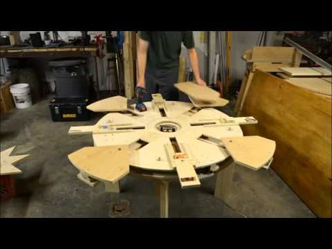 Wooden Expanding Table Table Assembly Time Lapse Youtube