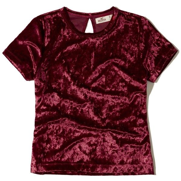 e9d622965c104 Hollister Velvet Baby T-Shirt ( 25) ❤ liked on Polyvore featuring tops