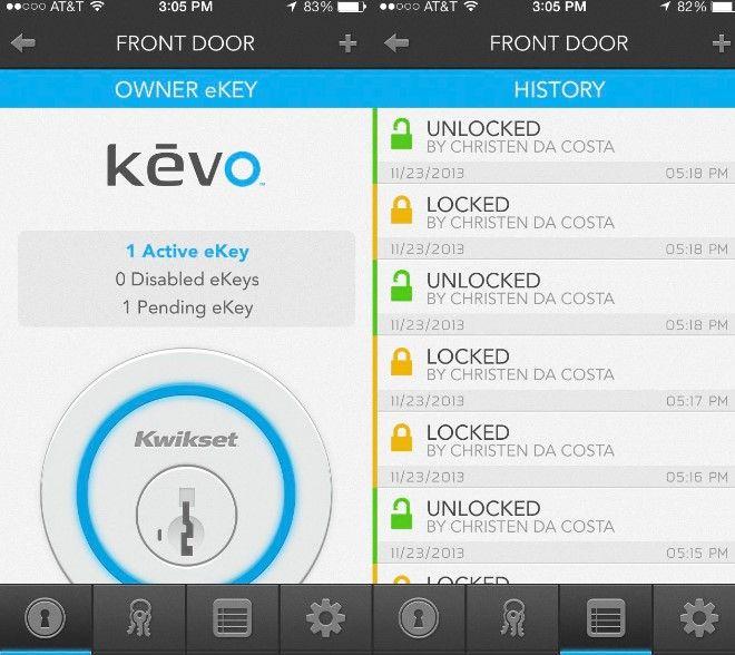 Kevo app featuers