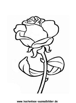 Rosen Ausmalbild Ausmalbilder Rose Malen Herz Zeichnen
