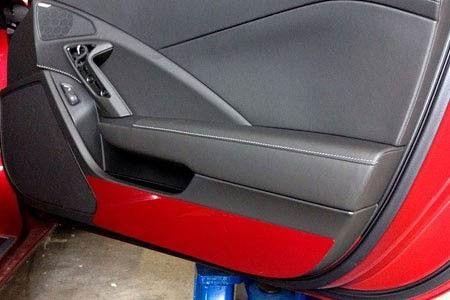 2014 2015 Corvette Painted Door Kick Plates C7 Corvette Interior