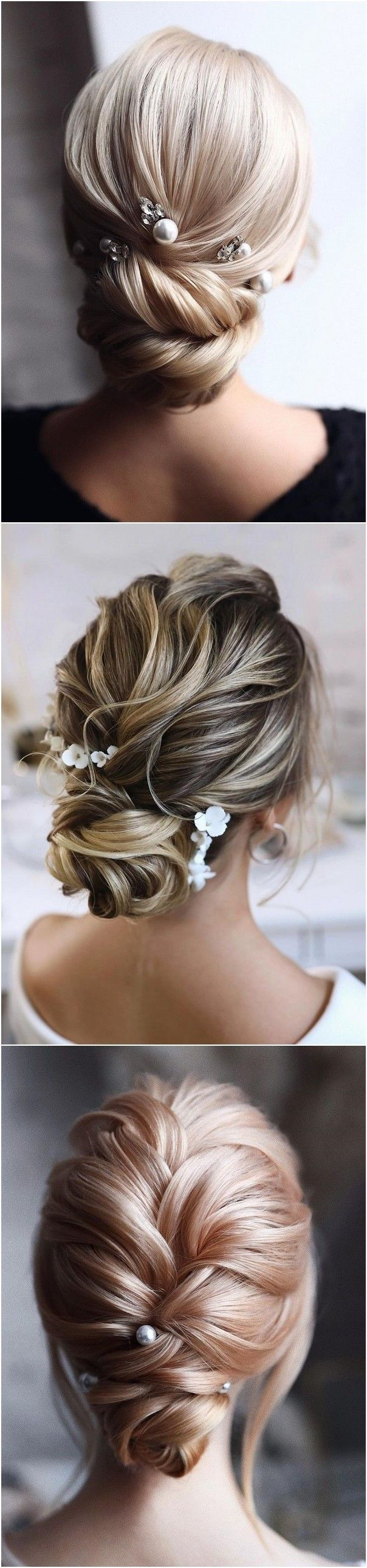 20 Trendy Low Bun Wedding Updos and Hairstyles | Retro wedding hair, Diy wedding hair, Boho ...