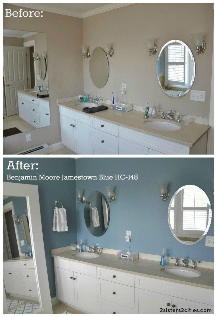 Master Bathroom Paint Color Reveal Bathroom Paint Colors White Bathroom Paint Bathroom Colors