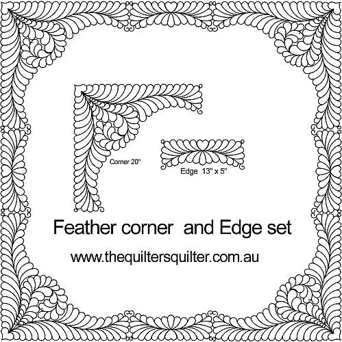 Feather Corner Edge | Quilting ideas | Pinterest | Feathers ... : feather quilting designs - Adamdwight.com