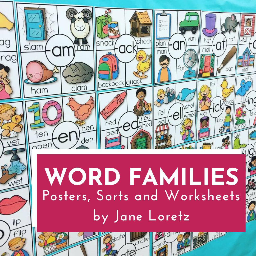 Word Families Posters Sorts And Worksheets