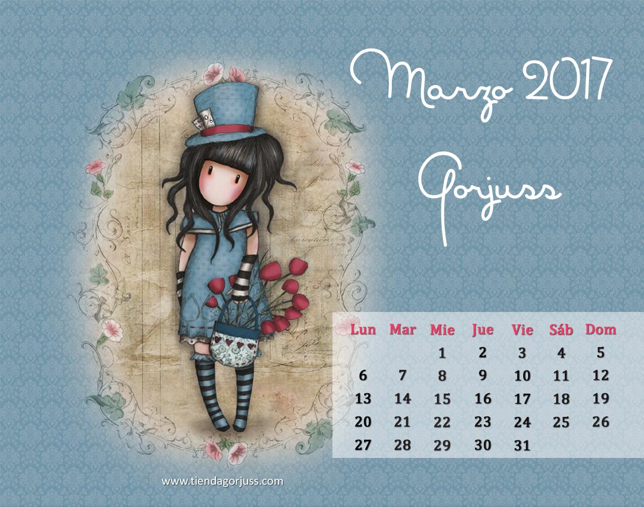 Marzo gorjuss 2017 regalo de calendario descargable - Fotos de ordenadores ...