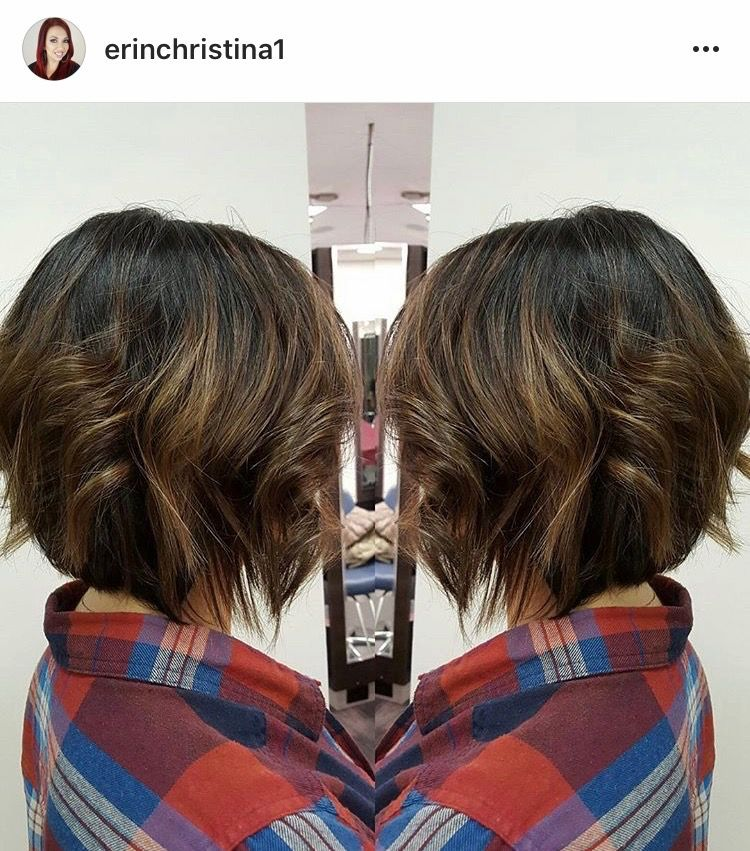 Blonde Caramel Balayage Ombre Highlights On Short A Line Bob