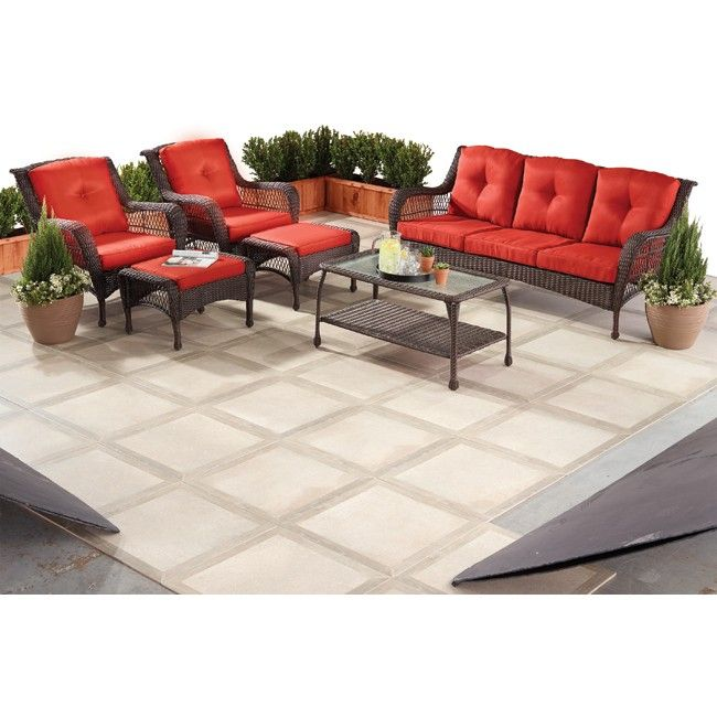 6pc Antigua All Weather Patio Set Old Time Pottery Home Decor Furniture Home