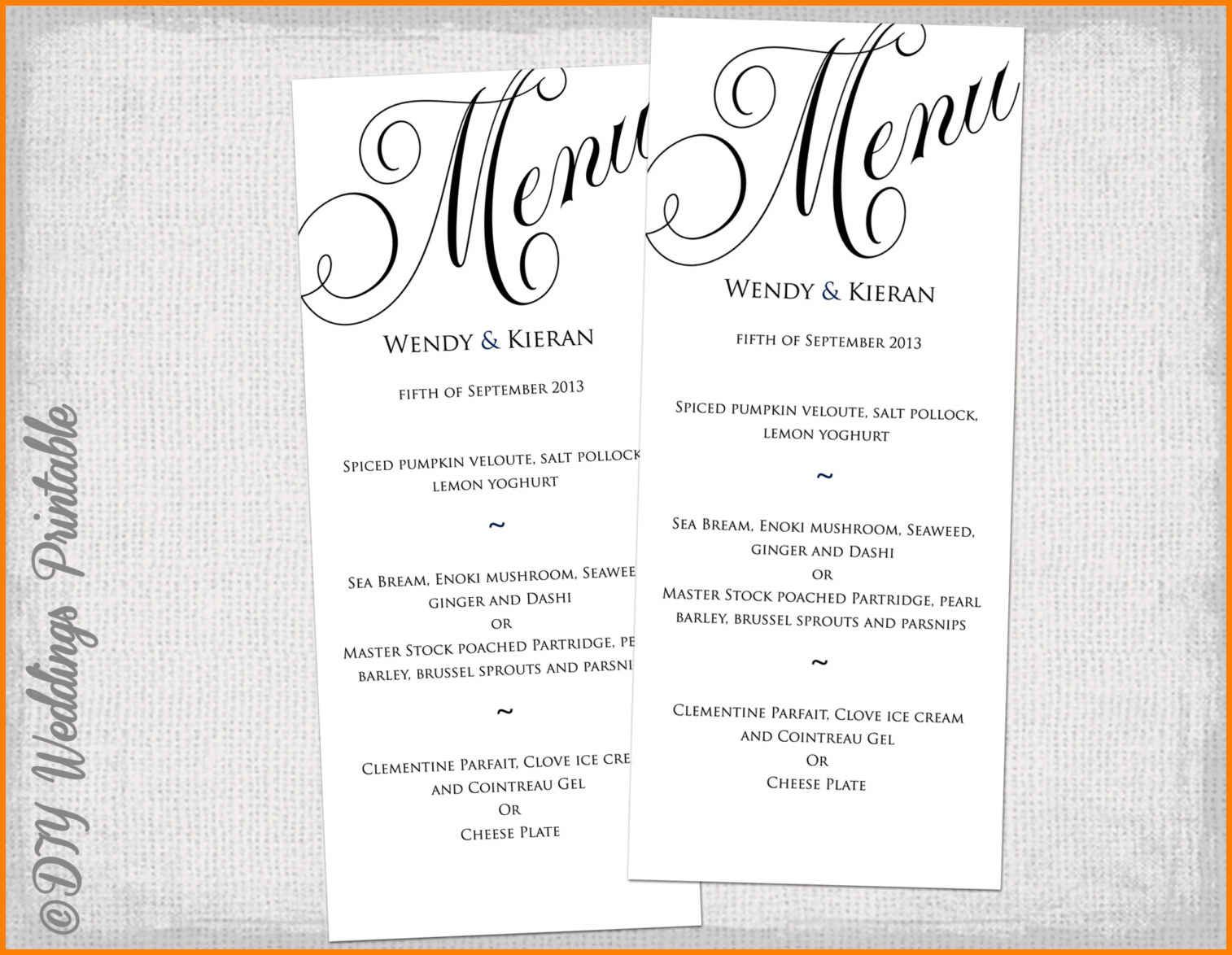 The Excellent 005 Dinner Party Menu Template 8 Best Images Of