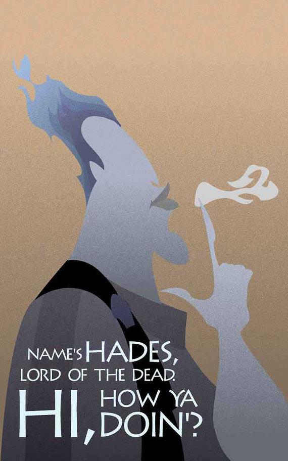 Hades Hurcules Disney Villains Inspired Movie Art