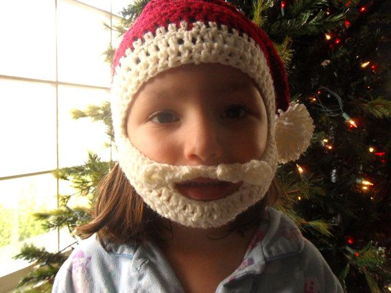 Santa baby beard hat. I have also seen similar hats but with the ...