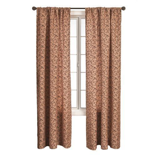 Diplomat Decor Morrison Scroll 96-Inch Rod Pocket Panel, Latte Choc by Diplomat Decor. $43.14. Elegant flocked scroll faux silk. All rights reserved. Panel measures 55-Inch by 96-Inch. 55-Percent polyester 45-Percent nylon. Diplomat Decor Morrison Scroll 96-Inch Rod Pocket Panel, instantly updates your home decor. Available in 11 colors.. Save 22% Off!