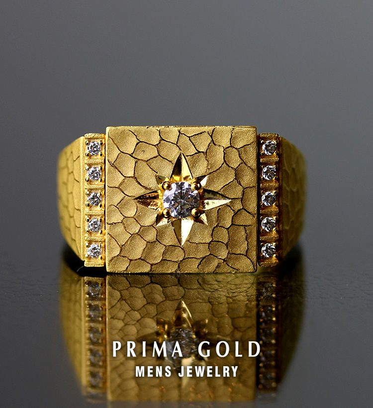 It is recommended to pure gold men mark stand ring K24 24-karat ...
