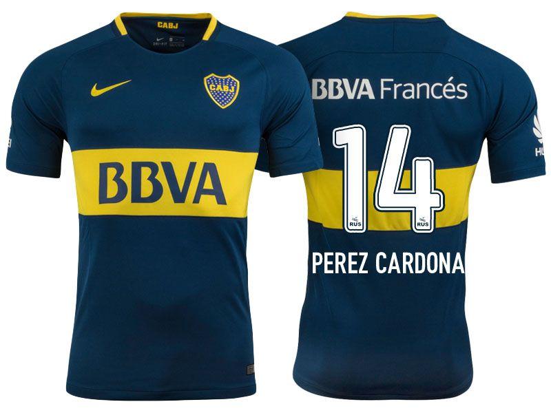 the latest c25b6 f0131 Boca Juniors Jersey sebastian perez cardona Home 17-18 Shirt ...