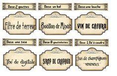 Halloween Etiquettes A Imprimer Etiquettes De Potion Harry