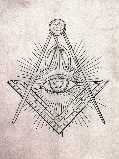 Square & Compasses | Masonic | Freemason tattoo, Illuminati tattoo