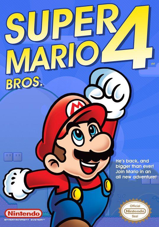 Super Mario Bros 4 Box Art For The Nes Super Mario Bros Mario Bros Mario