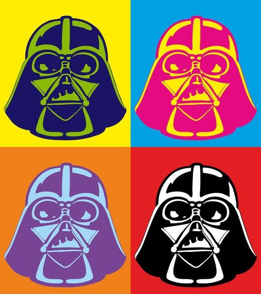 darth vader pop art star wars art print pop art the o 39 jays and darth vader. Black Bedroom Furniture Sets. Home Design Ideas