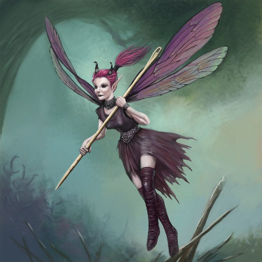 Bedeviled Pixie Painted Creature