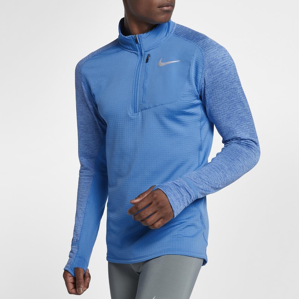 Nike Men's Therma Sphere Half Zip Running Hoodie | Mens