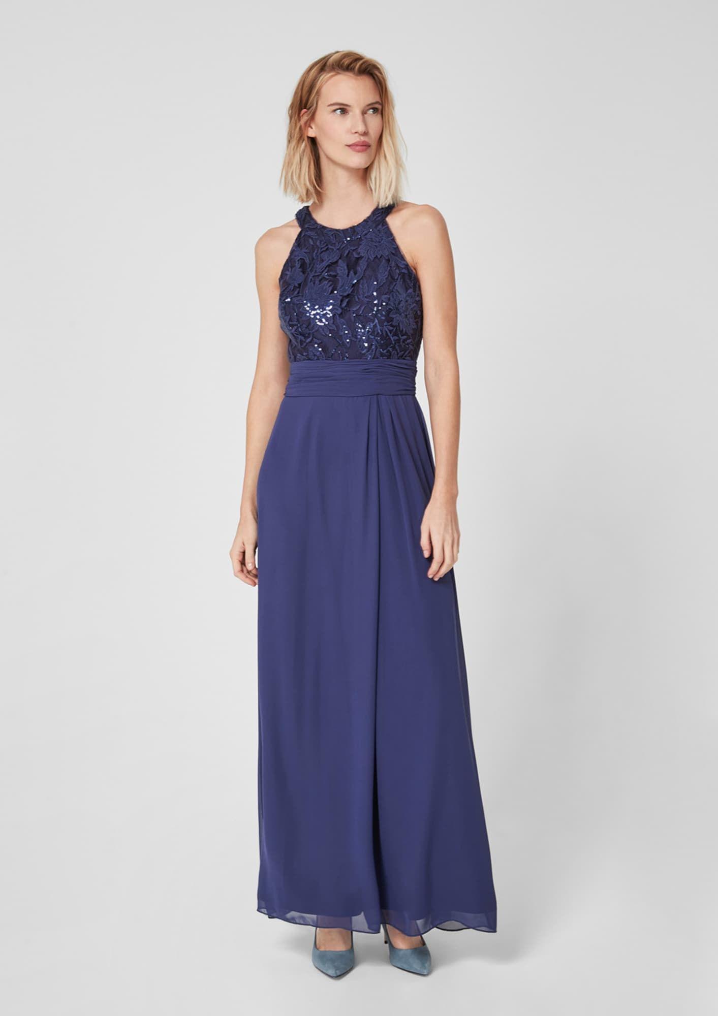 S.Oliver BLACK LABEL Abendkleid Damen, Indigo, Größe 16  Coole