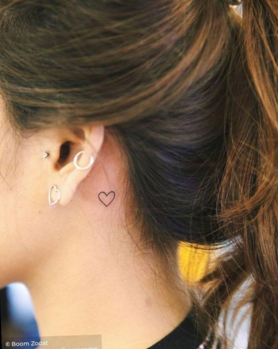 7 Cute Tattoos Behind Ear Small In 2020 Behind Ear Tattoos Behind Ear Tattoo Small Neck Tattoos Women