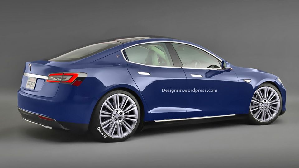 Entry Level 2016 Tesla Model E Gets Rendered Looks Good