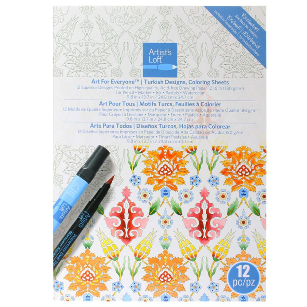 i just picked this same pack up at michaels on clearance going to give it coloring sheetsadult - Michaels Coloring Books