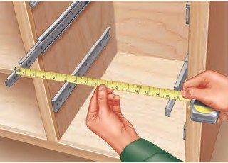 Building Drawers By Installing And Measuring The Drawer Slides First Building Drawers Woodworking Tips Easy Woodworking Projects