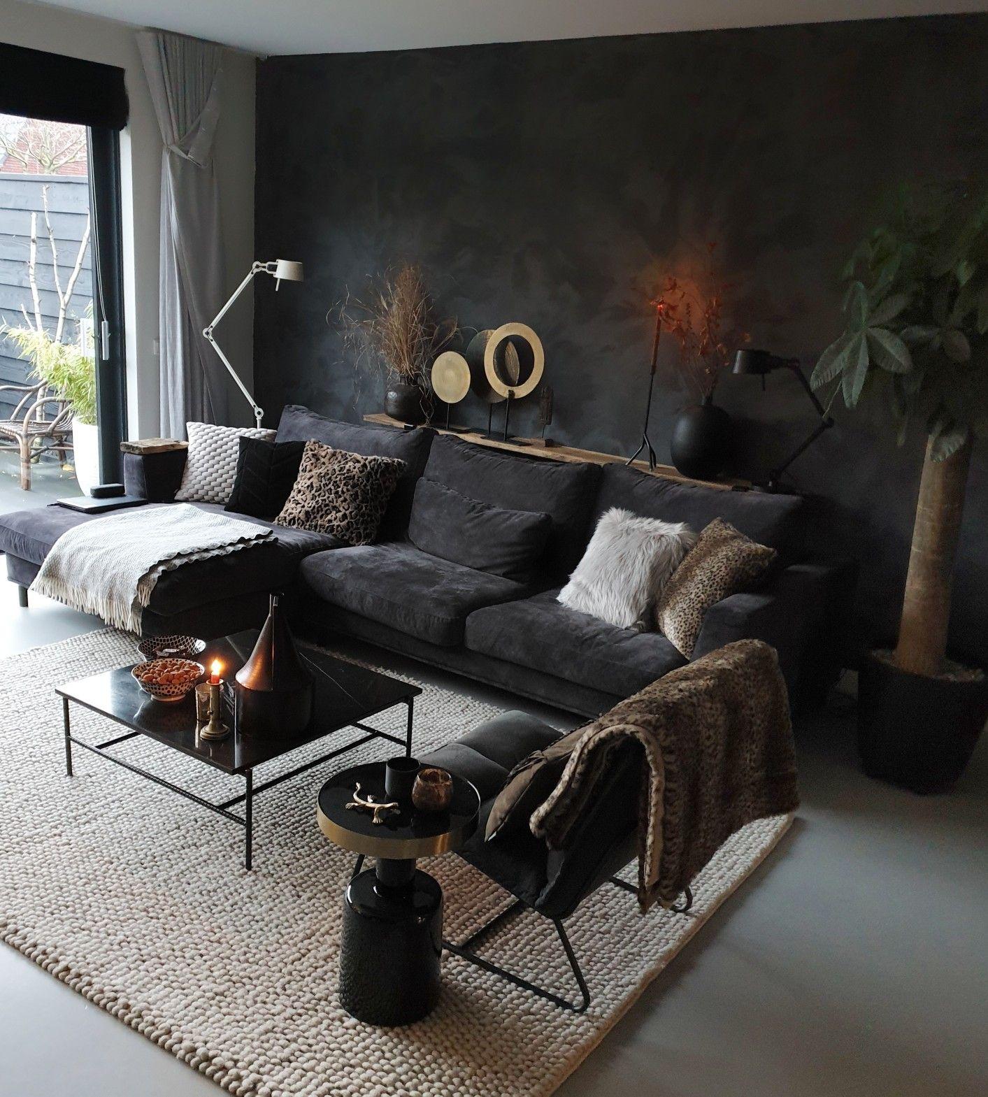 Photo of black interior