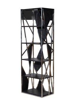 Spider's Web Single Bookcase - Black