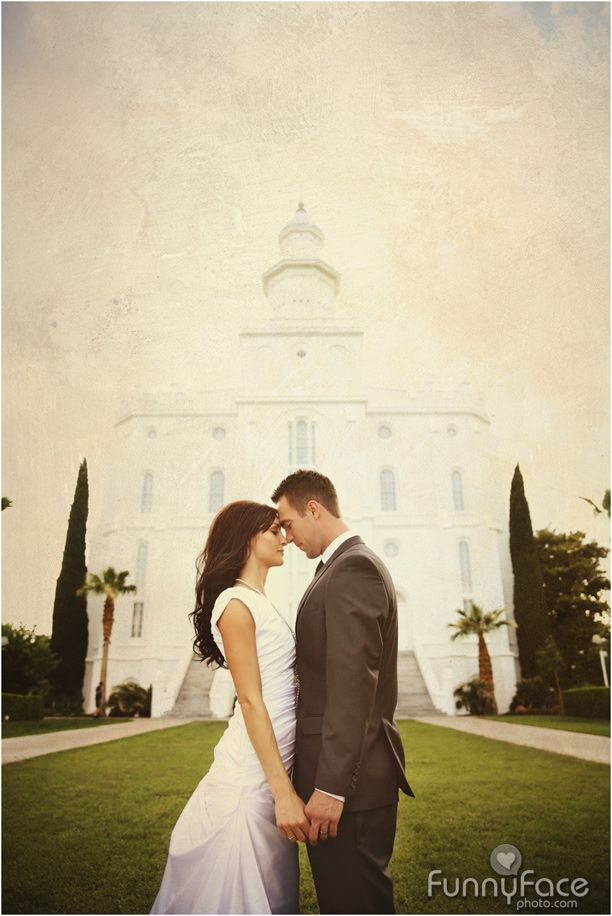 St. George LDS Temple  FunnyFace Photography #StGeorgePhotographers #bridalphotography #ldstemple